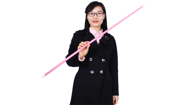 Appearing Cane (Plastic, PINK) by JL Magic