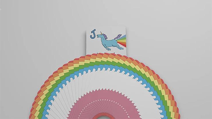 Rainbow Unicorn Fun Time Playing Cards by Handlordz