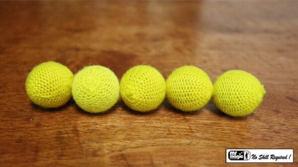 """Crochet 5 Ball combo Set (1""""/Yellow) by Mr. Magic"""