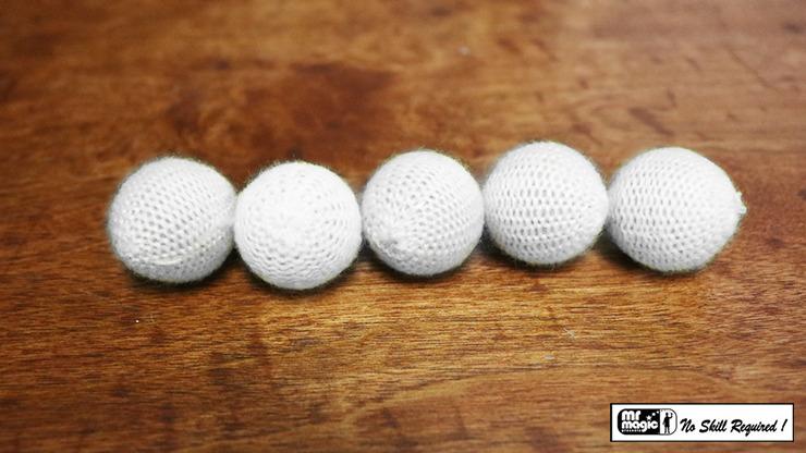 "Crochet 5 Ball combo Set (1""/White) by Mr. Magic"