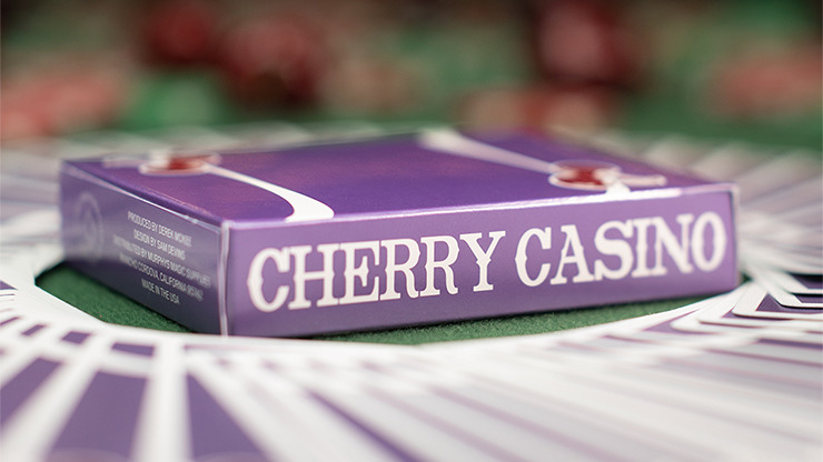 Cherry Casino (Desert Inn Purple) Playing Cards by Pure Imagination Projects