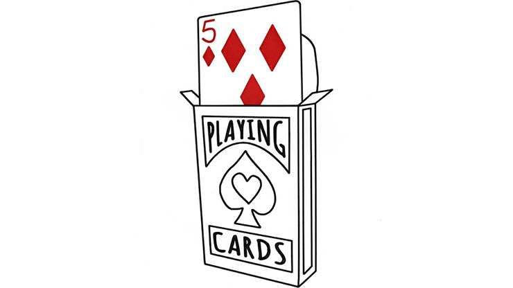 Cardiographic Lite RED CARD 5 of Diamonds Refill by Martin Lewis