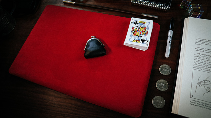 Suede Leather Small Pad (Red) by TCC