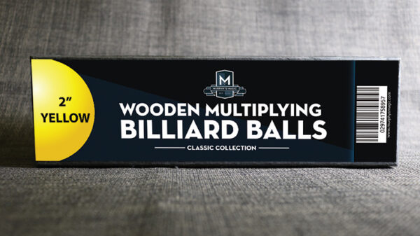 """Wooden Billiard Balls (2"""" Yellow) by Classic Collections"""