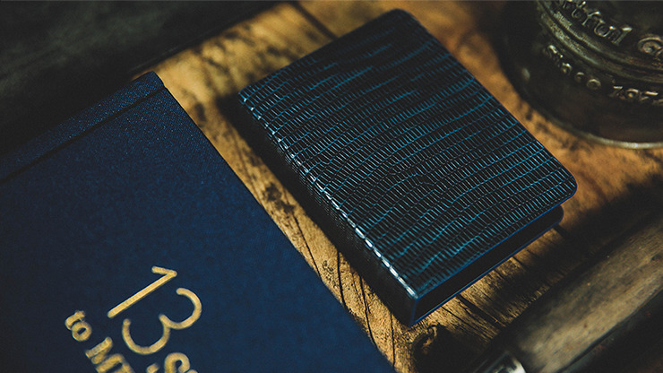 Lizard Grain Leather Clip (Black/Blue) by TCC