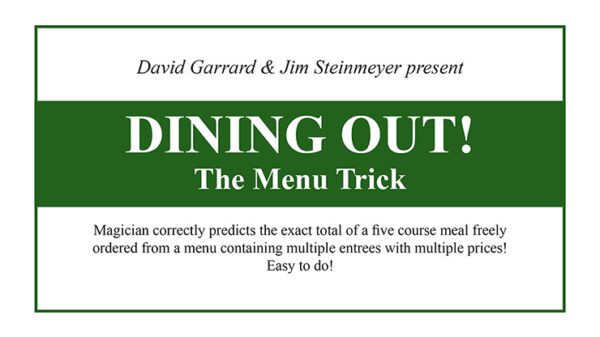 Dining Out The Menu Trick by David Garrard and Jim Steinmeyer