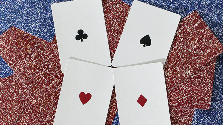 Limited Late 19th Century Square Faro (Blue) Playing Cards