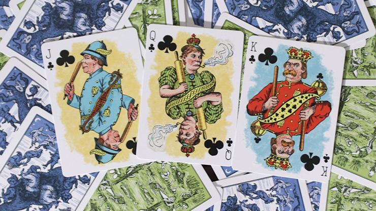 Limited Edition Hustling Joe (Frog Back Green Box) Playing Cards