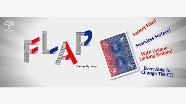 Modern Flap Card (Blue Box Face to Blue Back Card w/ Court Card) by Hondo