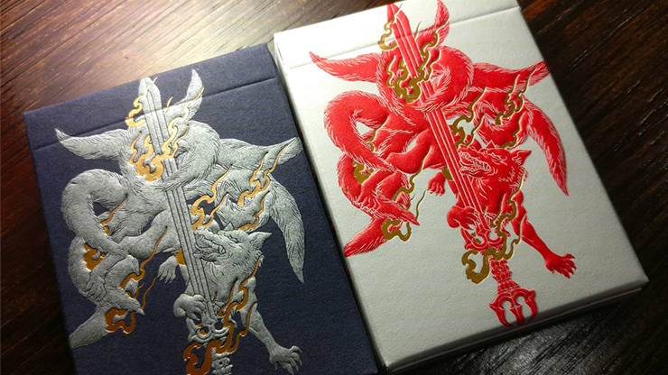 Sumi Kitsune Tale Teller (Craft Letterpressed Tuck) Playing Cards by Card Experiment
