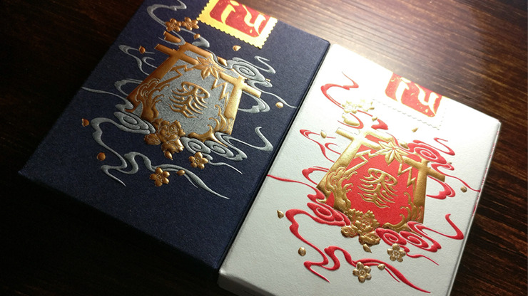 Sumi Kitsune Myth Maker (Blue Craft Letterpressed Tuck) Playing Cards by Card Experiment