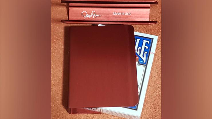 The Porper Card Clip (Red) Flat-Spine by Joe Porper