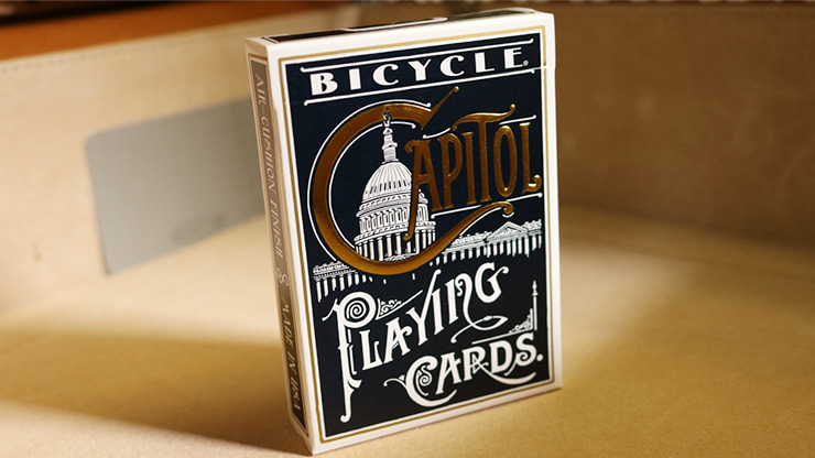 Bicycle Capitol (Black) Playing Cards by US Playing Card