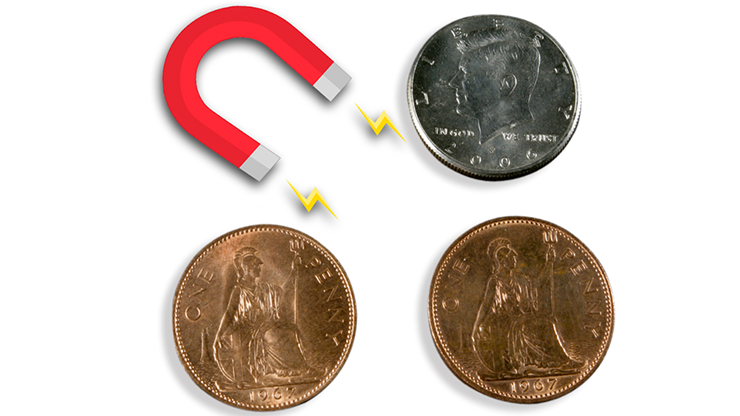 Magnetic Scotch and Soda English Penny by Eagle Coins