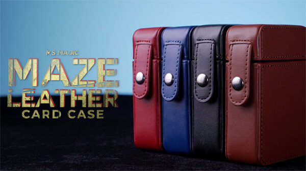 MAZE Leather Card Case (Red) by Bond Lee