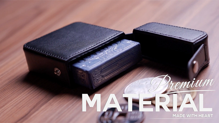 MAZE Leather Card Case (Blue) by Bond Lee