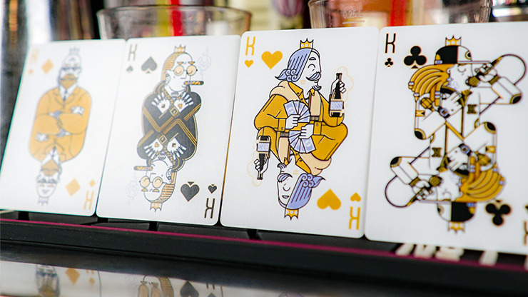 Nightclub Champagne Edition Playing Cards by Riffle Shuffle