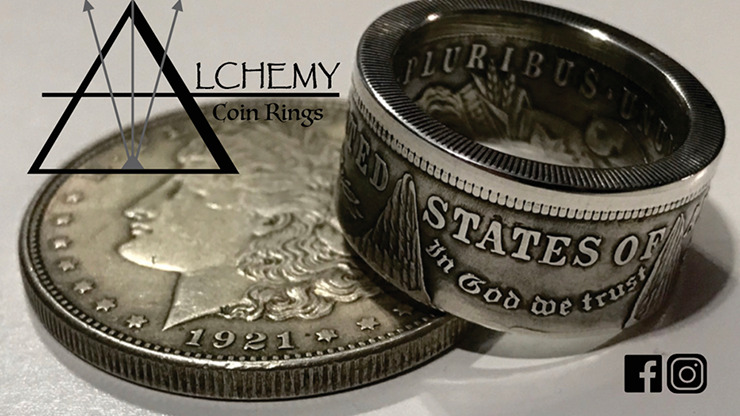 Kennedy Half Dollar Ring (Size: 9.5) by Alchemy Coin Rings
