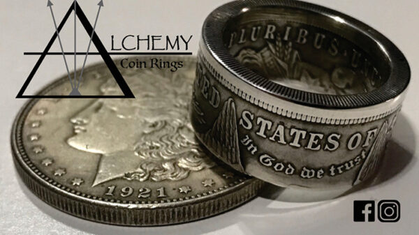 Kennedy Half Dollar Ring (Size: 11) by Alchemy Coin Rings