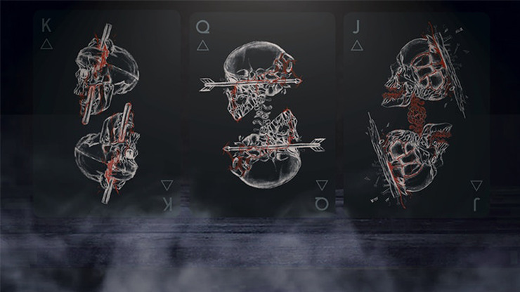 Black Trauma Playing Cards
