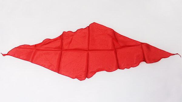 Diamond Cut Silk 18 inch (Red) by Magic by Gosh-Trick