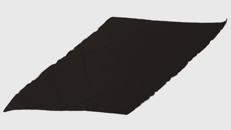 Diamond Cut Silk 18 inch (Black) by Magic By Gosh