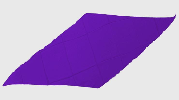 Diamond Cut Silk 18 inch (Purple) by Magic by Gosh-Trick