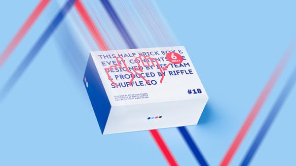 Half Brick (6 Decks) HYPER NEON Playing Cards by Riffle Shuffle