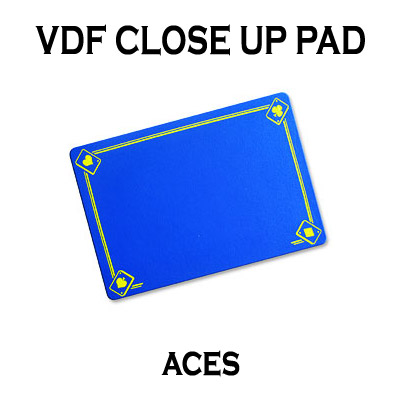 VDF Close Up Pad with Printed Aces (Blue) by Di Fatta Magic