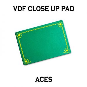 VDF Close Up Pad with Printed Aces (Green) by Di Fatta Magic