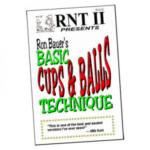 Basic Cups & Balls Technique book - Ron Bauer