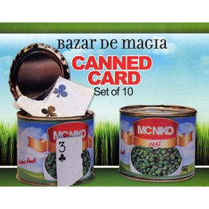Canned Card (Blue) ( Set of 10 cans ) by Bazar de Magia