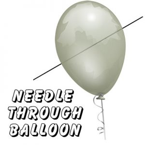 Needle Thru Balloon Professional (with 10 clear balloons) by Bazar de Magia