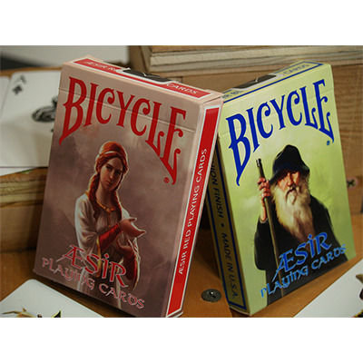 Bicycle AEsir Viking Gods Deck (Red) by US Playing Card Co.