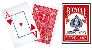 Cards Bicy. Jumbo Index (Red)