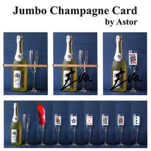Jumbo Champagne Card by Astor