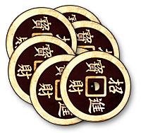 Chinese Half Dollar (Black) Coin