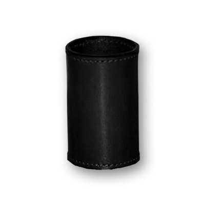 Leather Coin Cylinder (Black, Dollar Size)s