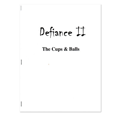 Defiance II Cups & Balls by McClintock