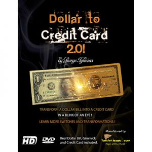 Dollar to Credit Card 2.0 (Gimmick and Online Instructions) by Twister Magic