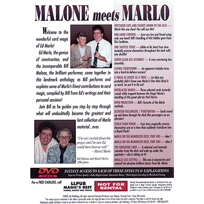 Malone Meets Marlo #2 by Bill Malone - DVD