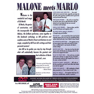 Malone Meets Marlo #4 by Bill Malone - DVD