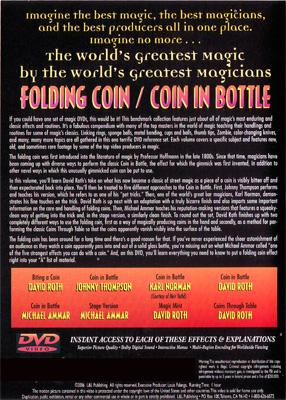 Folding Coin - Coin In Bottle (World's Greatest Magic) - DVD