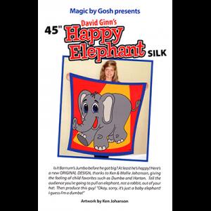 Happy Elephant Silk (45 inch) by David Ginn and Goshman s