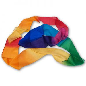 Multicolor Silk Streamer 4 inch by 9 feet from Magic by Gosh