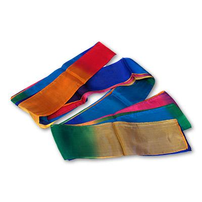 Multicolor Silk Streamer 4 inch by 30 feet from Magic by Gosh