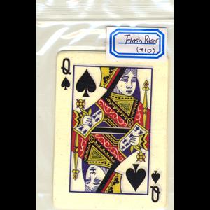 Flash Poker Card Queen of Spades (Ten Pack)