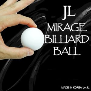 Two in Mirage Billiard Balls by JL (WHITE, single ball only)