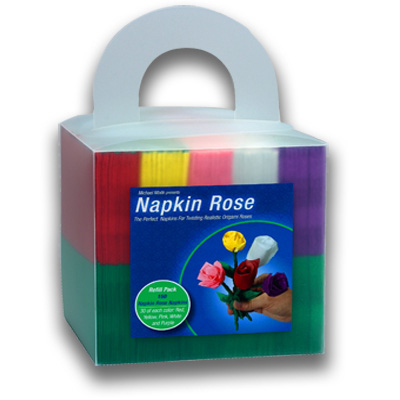 Napkin Rose Cube by Michael Mode s