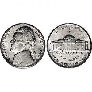 Nickel regular one roll of 40 coins